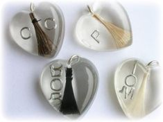 Lock of hair Keepsake Jewellery - Shpangle specialise in preserving the hair from your loved ones, baby, or child in handmade keepsake jewellery and paperweights Resin Ring, Uv Resin, Resin Art, Resin Jewelry, Jewelry Crafts, Jewelry Ideas, Horse Hair Bracelet, Horse Hair Jewelry, Equestrian Jewelry