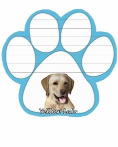 Yellow Labrador Notepad With Unique Die Cut Paw Shaped Sticky Notes 50 Sheets Measuring 5 by 4.7 Inches Convenient Functional Everyday Item Great Gift For Yellow Labrador Lovers and Owners >>> See this great product.