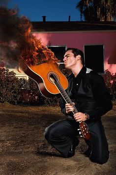 Fantastic conceptual photography. It evokes Johnny Cash's entire story in a single image. Joaquin Phoenix by Michael Muller.