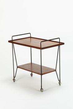 Italian Bar Cart Teak 50's