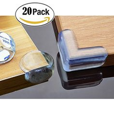 BeRicham 20 Pack Baby Safety Clear Furniture Corner Guards Corner Protector  With 3M Adhesive, L