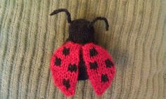 She's here!  I have had a lady bug amigurumi sitting in my design  notebook for a long time.  I finally decided to get up and knit her.   W...