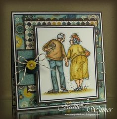 The Spotted Chick: Mo Manning Jack & Ginger image (Love/Anniversary) Anniversary Gifts For Parents, Wedding Anniversary Cards, Wedding Cards, Penny Black Cards, Penny Black Stamps, Art Impressions Stamps, Mo Manning, Beautiful Handmade Cards, Mo S