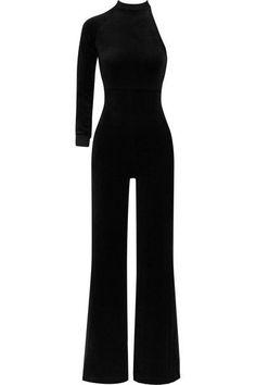 Vetements - Juicy Couture One-shoulder Cotton-blend Velour Jumpsuit - Black - x small