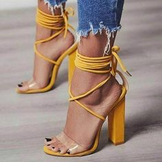 bcb74ff4c3 Ericdress Nude Color Block Chunky Sandals. See more. EricdressStrappy  Patchwork Lace-Up Chunky Sandals #ericdressreviews,#ericdress fashion  reviews,#