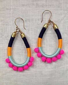 AVIVA earrings Color Study No. 27 by NestoftheBluebird on Etsy