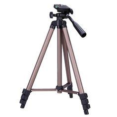 WT3130 Lightweight Professional Tripod Aluminum Camera DV Video Flexible Tripod For DSLR Canon Nikon Sony DSLR Camera Camcorder