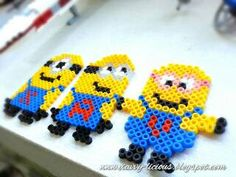 Personalized Minions with Hama Beads