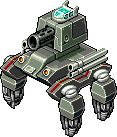 This image is concept art. The mech design is made with pixel art graphics and is for the online game Antraxx, Find out more @ http://antraxx.com