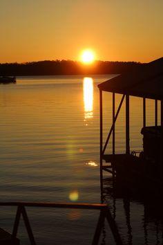 Sunrise on Lake Keowee SC