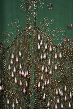 Detail of the embroidery on the 1920's Sage-Green dress. | More on the myLusciousLife blog: www.mylusciouslife.com