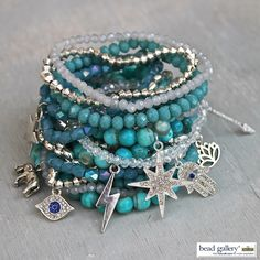Make your own Verre Bleu Bracelets with Bead Gallery beads available at @MichaelsStores