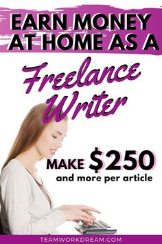 Find out all you need to know about how to become a freelance writer. Start your own freelance writing business and make a full-time income online. #freelancewriter #freelancewriting #earnmoneyathome #makemoneyathome #makemoneyonline #workfromhome #workfromhomeideas #onlinework #remotejobs #workonline Online Work From Home, Work From Home Jobs, Tips Online, Online Jobs, Earn Money From Home, Earn Money Online, Writing Portfolio, Work Opportunities, Freelance Writing Jobs