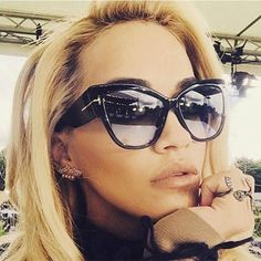 c538e0491b HapiGOO Fashion Vintage Oversize Cat Eye Gradient Sunglasses Women Brand  Designer Big Frame Sun Glasses For Female Lady Eyewear