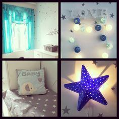 """28 tykkäystä, 3 kommenttia - Johanna Turunen (@johanna_turunen90) Instagramissa: """"#decor #babyboyroom #kids #kidsroom #blue #lightblue #star #decoration #white #loveit #instadecor…"""""""