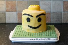 A Lego Mini-fig Cake For A Lego Mad Boy – What Else?! | One Busy WAHM