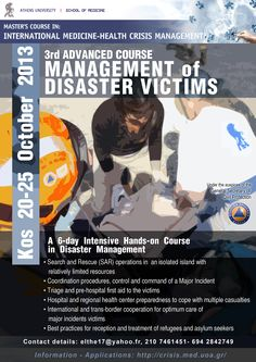3rd Advanced Course in the Managment of Disaster Victims