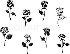Stock vector of 'Rose flowers'