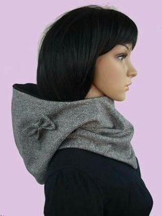 Hooded Scarf for buttons Sewing Scarves, Sewing Clothes, Diy Clothes, Clothing Patterns, Sewing Patterns, Diy Fashion, Womens Fashion, Hooded Scarf, Creation Couture