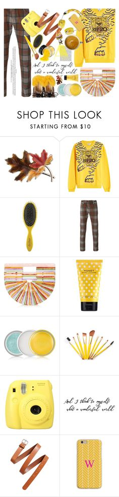 """Untitled #1623"" by kristina-susanto on Polyvore featuring Anne Klein, Kenzo, Drybar, Jacob Cohën, Cult Gaia, Marc Jacobs, Clinique, Fujifilm, H&M and Mark & Graham"
