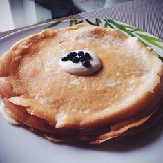 Russian pancakes on grandmother's recipe