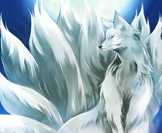 """Kitsune stands guard by the """"Kimon,"""" the gateway where demons gather to enter this world and prevents them from coming in."""