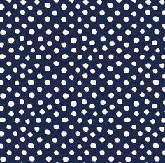 Blue and White Polka Dot Fabric  Swiss Dot Indigo by Spoonflower