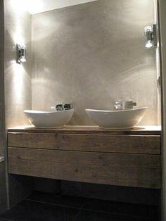 mooi badkamer meubel van steigerhout