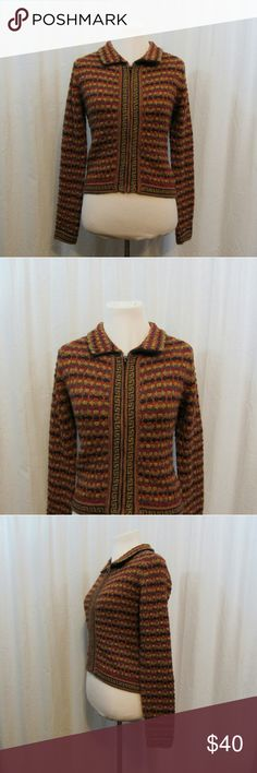 "Baby Alpaca Multi Fall Colors Cardigan XS Brand: Baby Alpaca  Size: XS Material:  Care Instructions: 100% Alpaca Bust: 36"" Sleeves: 22"" Length: 21""  All clothes are in excellent used condition. No tears, stains or holes unless otherwise I noted.   P9 Baby Alpaca Sweaters Cardigans"