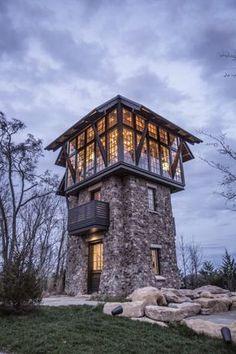Casa de madera y roc