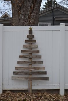Barn wood Christmas tree....mine would be a bit rougher edged.