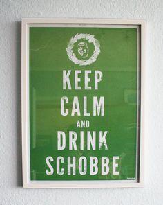 """*Wunderschönes Vintageposter von Frankfurt. """"Keep Calm and Drink Schobbe""""!  Dieses historische Poster erklärt die einfachen Verhaltensweisen in ei..."""