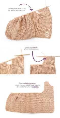 Knitted Girly Vest for baby [ Free Pattern & Tutorial ] Ssk In Knitting, Knitting For Kids, Baby Knitting Patterns, Baby Patterns, Free Knitting, Sewing Patterns, Girly, Knit Vest Pattern, Pull Bebe