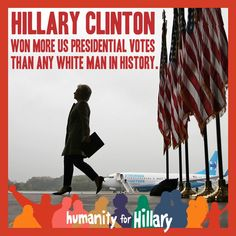 Hillary set a record of votes.