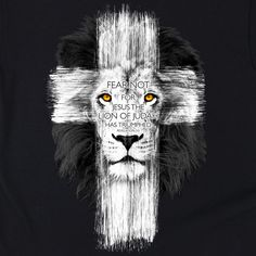 Lion Cross | Kerusso Kids Christian T-Shirt | Youth Sizes | Free U.S. Shipping