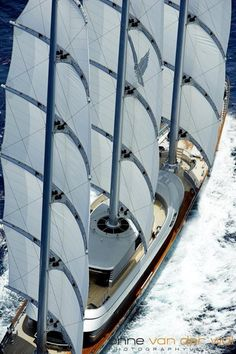 The Maltese Falcon built by Perini Navi in Tuzla, Turkey is a ship-rigged sailing luxury yacht. Yacht Design, Yachting Club, Float Your Boat, Yacht Boat, Boat Rental, Super Yachts, Sail Away, Set Sail, Menorca