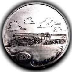 TOM MAHER HOBO NICKEL - READING RR LOCOMOTIVE - 1924 BUFFALO NICKEL Italy Pictures, Hobo Nickel, Locomotive, Buffalo, Cactus, Steampunk, Coins, Train, Money