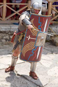 Una representacion moderna de los legionarios del Tropeum.