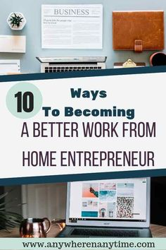 Working from home can seem like the ultimate opportunity but in reality it is a lot of work, especially when you need to stay on task. Find how out 10 steps you can take to become a better work-from-home entrepreneur. Work From Home Business, Work From Home Moms, Start Up Business, Starting A Business, Business Tips, Online Business, Salon Business, How To Get Money, Make Money From Home