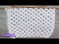 Как связать спицами узор Ажурная Сетка. Вязание на спицах # 522 - YouTube