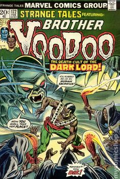 STRANGE TALES 172, BROTHER VOODOO, BRONZE AGE MARVEL COMICS