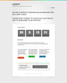 Lexiity Free Responsive WordPress Under Construction Theme