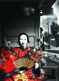 Zhong Biao [mixed media portrait]