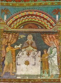 Melchizedek , Abraham, and Abel at the Altar. century/ Basilica di Sant'Apollinare in Classe, Ravenna, Italy Christian Stories, Christian Art, Early Christian, Byzantine Art, Byzantine Icons, Images Of Mary, Biblical Art, Orthodox Icons, Altar