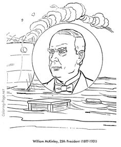 william mckinley us president coloring page