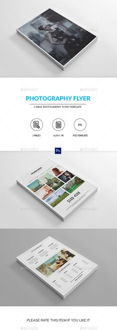 Photography Pricing List Template, Elegant Price List Design