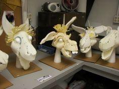 Lovely foam sculpt for puppets