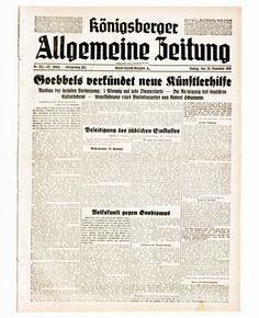1938 Königsberger Allgemeine Zeitung Ostpreußen Kalinigrad Russland