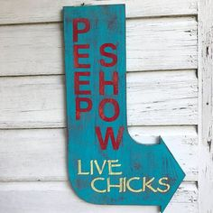 For the chicken lover, or just anyone with a sense of humor! This cool, unique piece is hand painted and hand weathered to create an awesome look #chickencoopideas