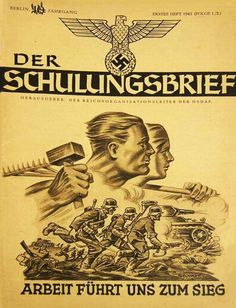 Covers of 'Der Schulungsbrief' magazine, 1942-43